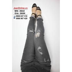 Quần skinny jean nữ bigsize