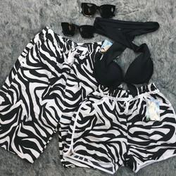 Set quần đôi đi biển có áo bikini QC24