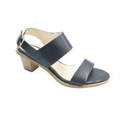 Giày Sandal cao gót 5F, màu xanh đen