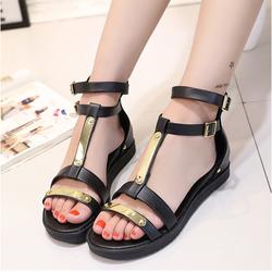Giày Sandal nữ cá tính kim loại nổi bật mẫu mới 2016 - XS0277