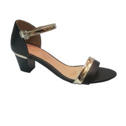 Giày Sandal  cao gót 5F màu đen