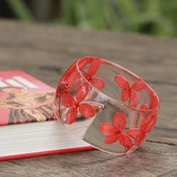 Vòng tay Hoa Cẩm tú cầu đỏ