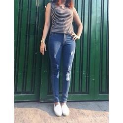 Jeans wash xanh nhạt