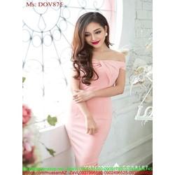 Đầm body dự tiệc kiểu ngang vai cúp ngực sành điệu xinh đẹp DOV875