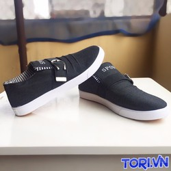 Giày Lười Vải Jean Trẻ Trung Phong Cách