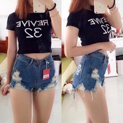 Quần short jeans rách sexy hàng Thái