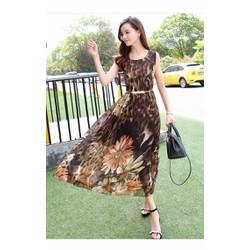 Đầm maxi họa tiết hoa cúc