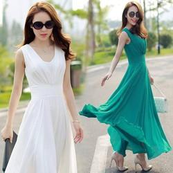 Đầm maxi kiểu dạ hội bo eo gợi cảm thời trang