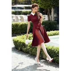 Đầm Xòe Cổ Sơ Mi Xinh Xắn 2805