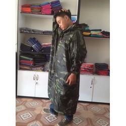 Áo mưa bít sỉ lẻ | áo mưa vải dù màu quân đội dành cho nam