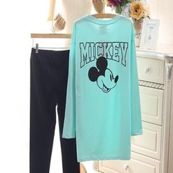 Đồ bộ nữ mặc nhà hình chuột mickey dễ thương thun cao cấp NN386