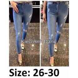 Jeans 2 da wash nhẹ