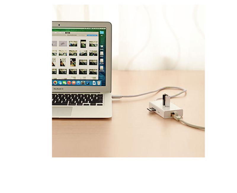 Bộ chia cổng USB 3.0 ra : 1 Lan Gigabit + 02 USB 3.0 + đầu đọc SD.TF 4