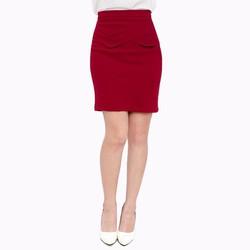Chân váy công sở phối lưng vạt xéo - V05323060