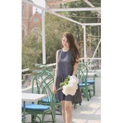 Đầm Suông Đuôi Cá Chấm Bi
