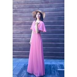 Đầm Maxi Tay Cánh Tiên VoanDập Li