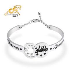 Vòng tay inox thời trang chữ Love - đẹp giá rẻ - shop uy tín