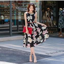 Đầm Họa Tiết Hoa Kèm Nịt