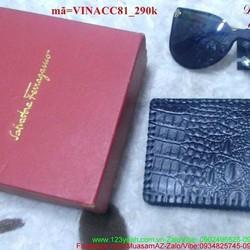 Ví nam da bò vân cá sấu hàng cao cấp sang trọng VINACC81