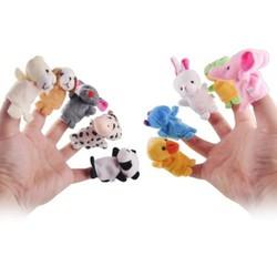 Bộ thú 10 con thú xỏ ngón tay bằng vải nghộ nghĩnh cho bé yêu