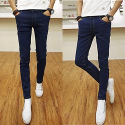 Quần jeans nam ống côn skinny - Xanh bò