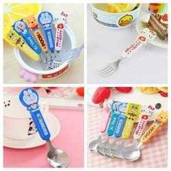 Combo muỗng nĩa inox hoạt hình cho bé - SDBB2