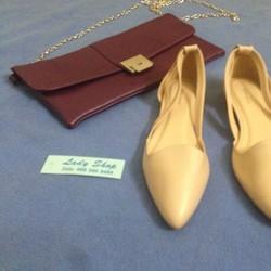 Giày búp bê Zara Basic hở eo