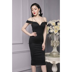 Đầm đen ôm body dự tiệc thiết kế sang trọng, tôn dáng  M800D