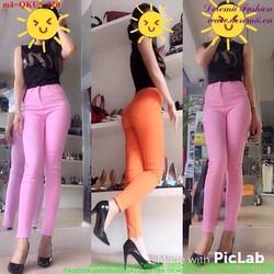 Quần kaki nữ lưng cao đơn giản form chuẩn đẹp qQKU5