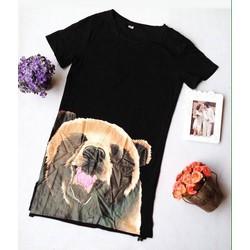 Đầm suông hotgirl hình gấu dễ thương