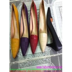 Giày cao gót nữ mũi nhọn dạng thấp màu sắc nổi bật GCN264