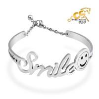 Vòng tay hở Smile - vòng tay inox đẹp bền giá rẻ