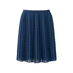 Chân váy Chiffon xếp ly dáng ngắn màu 67 Blue - hàng nhập Nhật