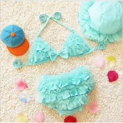 MUA 1 TẶNG 1: Bộ bơi 2 mảnh bé gái TẶNG kèm nón bơi mùa hè xinh mát