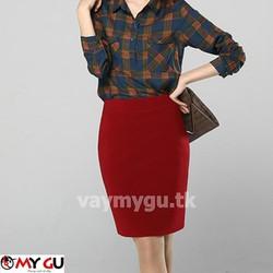 Chân váy bút chì quyến rũ V17 - Màu đỏ