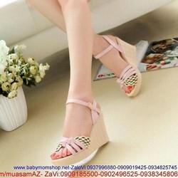 Giày cao gót đế xuồng quai đan chéo sành điệu GCG146