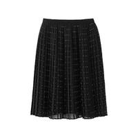 Chân váy Chiffon xếp ly dáng ngắn màu 09 Black hãng Uniqlo Nhật