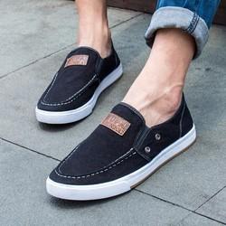 Giày Lười Vải Jean Cá Tính