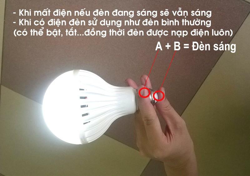 Bóng đèn LED Bulb 9W thắp sáng không cần điện 4