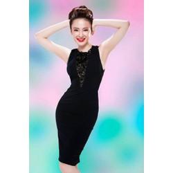 Đầm màu đen ôm body tôn dáng như Angela Phương Trinh M00017