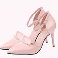 Giày Nhập Khẩu - Giày cao gót đính cườm sang trọng - CG300