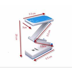 Đèn LED để bàn học cảm ứng KM-6655 - hồng