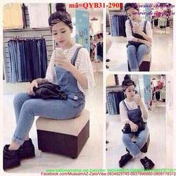 Quần yếm jean dài phong cách Korea sành điệu QYB31
