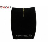 Chân váy bút chì MY GU V25 - Màu đen