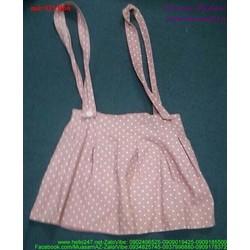 Váy yếm 2 dây xếp ly chấm bi thời trang sành điệu QYB66