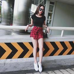 Set áo thun +quần váy caro_ Lii shop