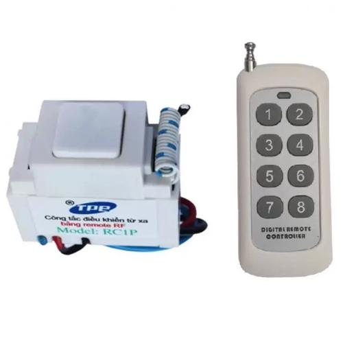 Bộ công tắc điều khiển từ xa RF TPE RC1P + Remote 8 nút 315Mhz R2.5