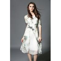 Đầm lụa tơ tằm quý phái cổ điển