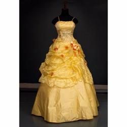 váy cưới dài - Đính hoa