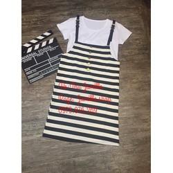 Đầm đẹp giá tốt- Set áo thun và váy 2 dây